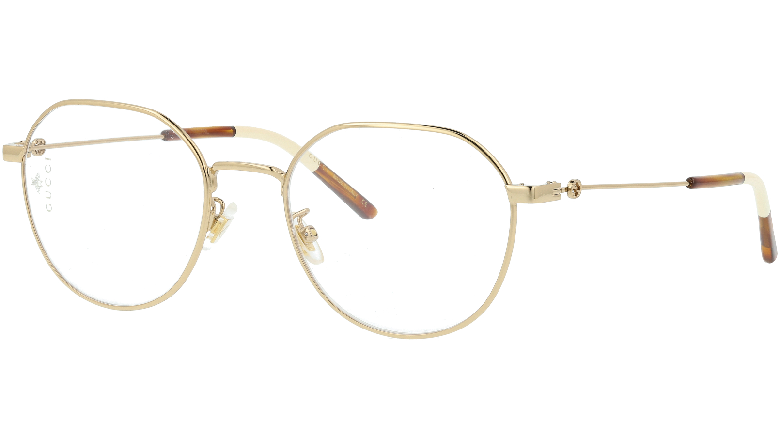 Gucci GG0684O 001 51 Gold Oval Glasses