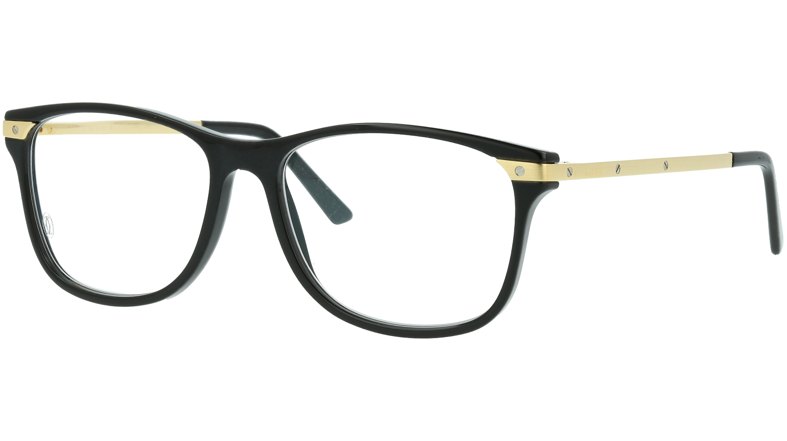 Cartier CT0106O 005 55 Black Full Rim Glasses