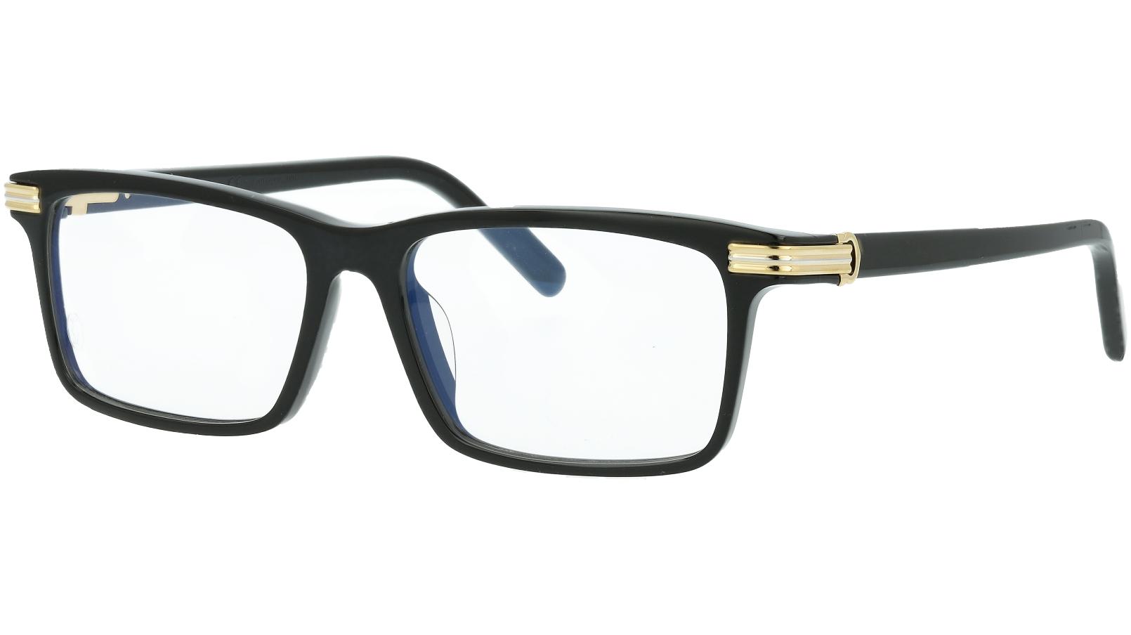 Cartier CT0222OA 001 54 Black Square Glasses
