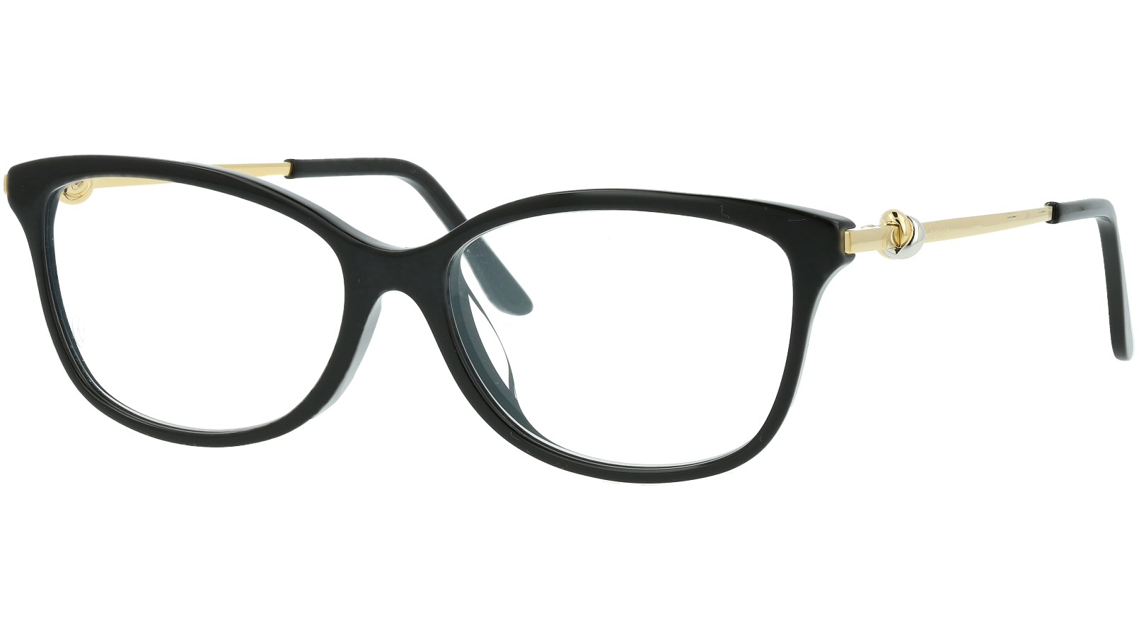 Cartier CT0257OA 001 55 Black Cat-Eye Glasses