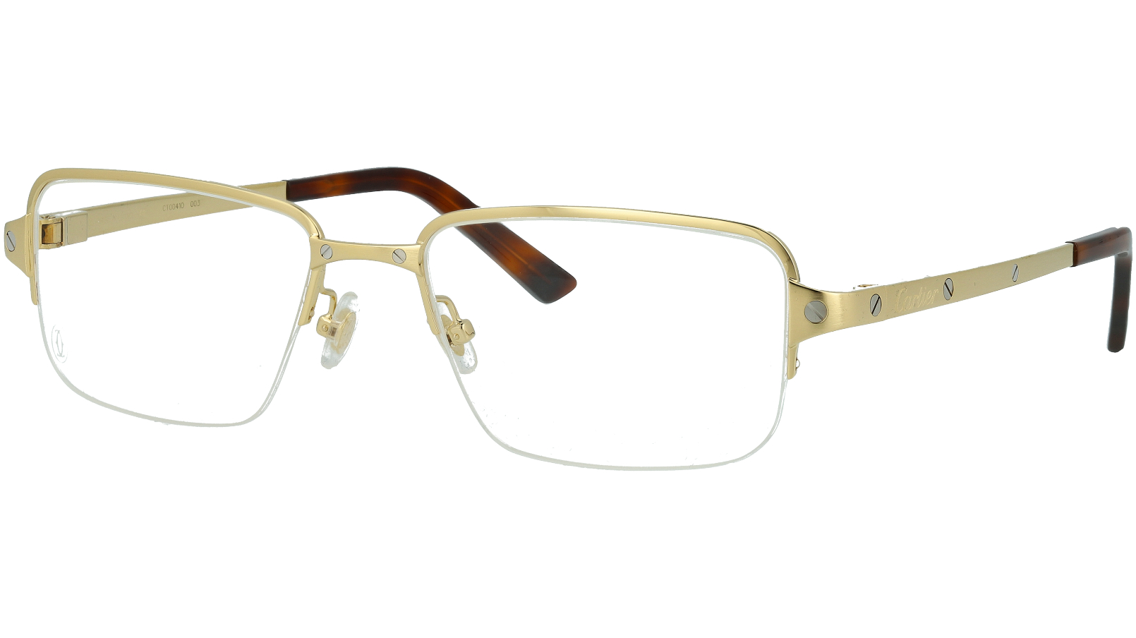 Cartier CT0041O 003 55 Gold Rectangle Glasses