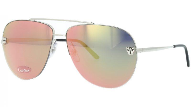 Cartier CT0065S 005 (ESW00175) 60 Silver Sunglasses