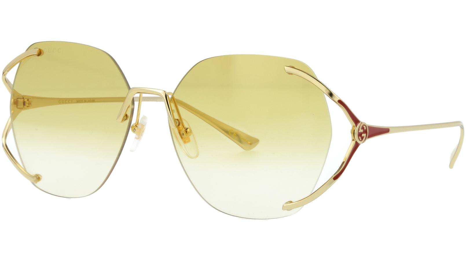 Gucci GG0651S 005 59 Gold Oval Sunglasses