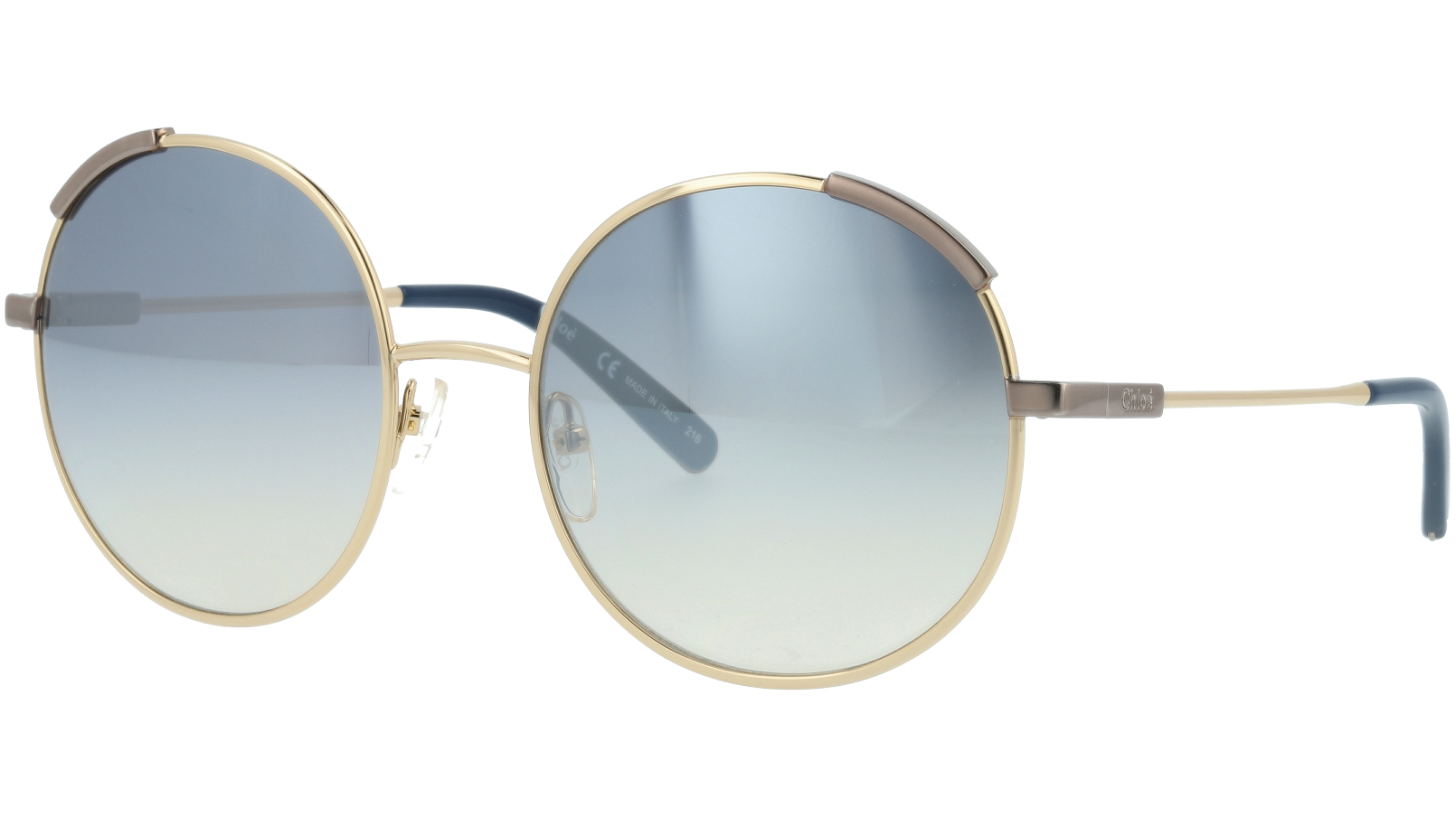 CHLOE CE117S 766 56 Gold Gradient Blue Round Sunglasses