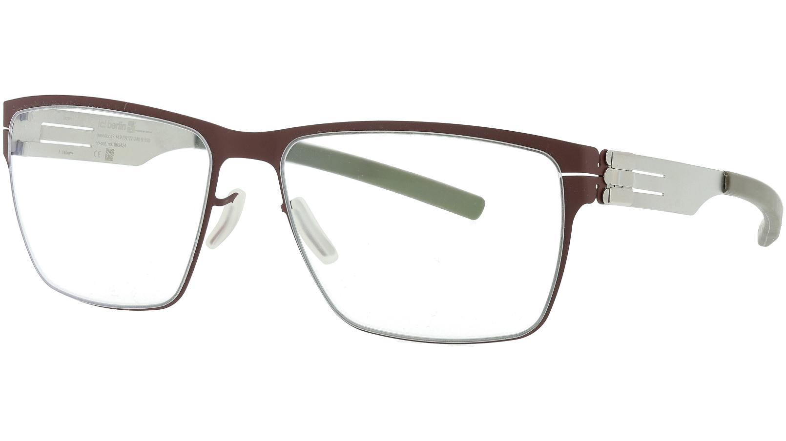 IC BERLIN! Jan H Bordeaux Pearl 56 Brown Glasses