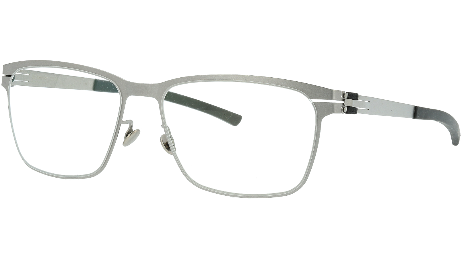 IC BERLIN! T 117 Ceramic Matt Silver Square Glasses