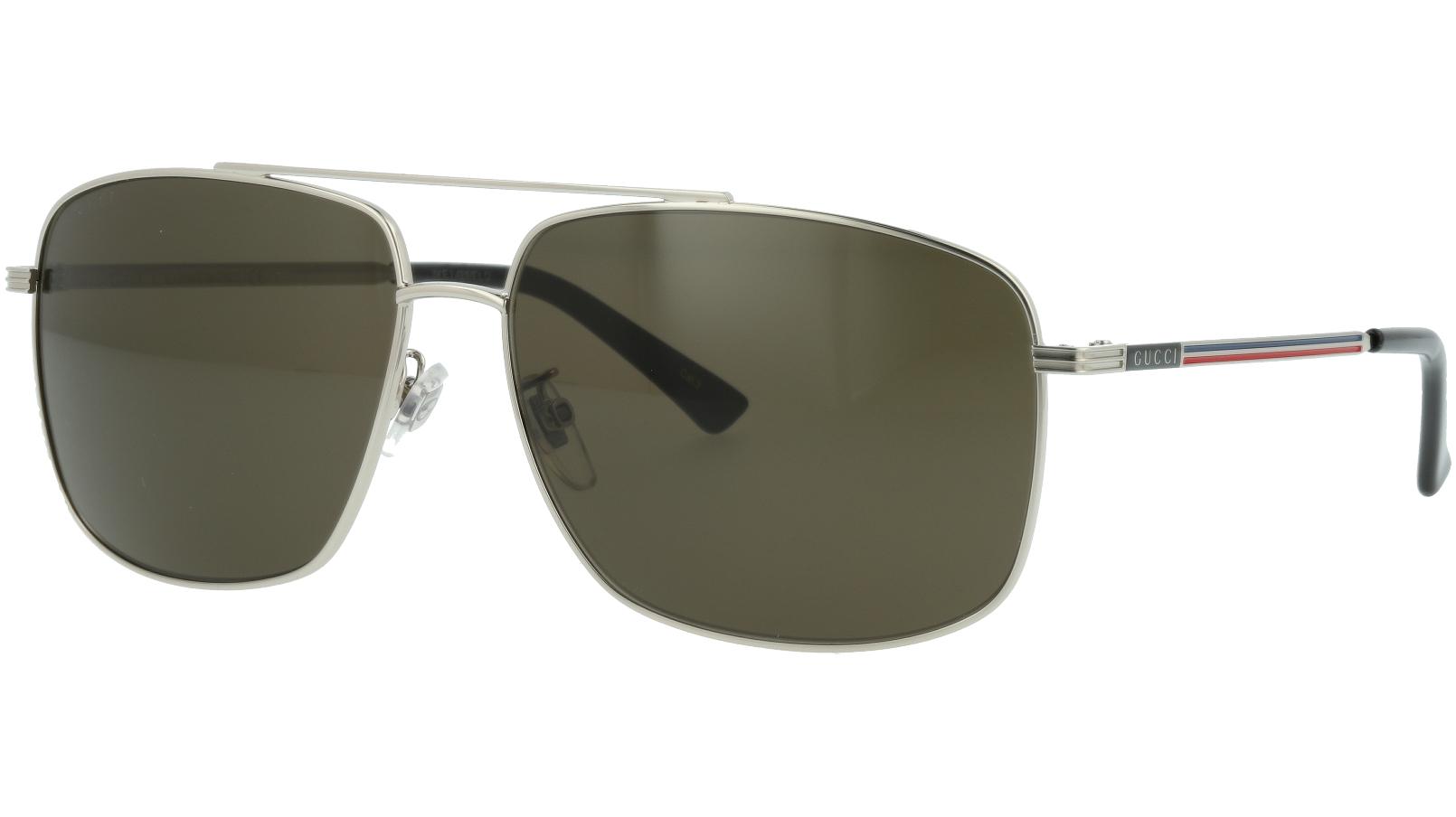 Gucci GG0836SK 001 63 Silver Full-Rim Sunglasses