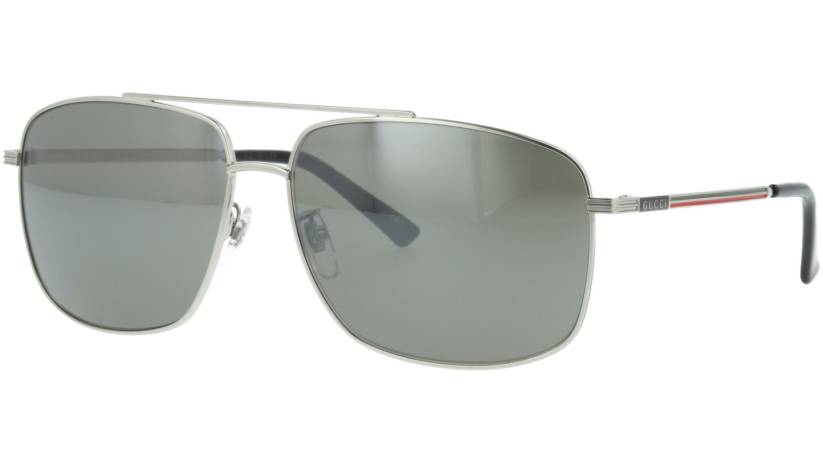 Gucci GG0836SK 003 63 Silver Pilot Sunglasses