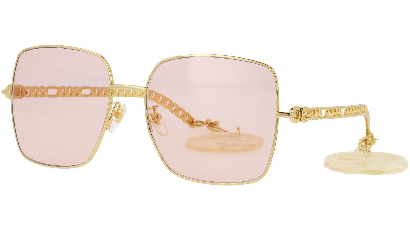 Gucci GG0724S 003 61 Gold Sunglasses