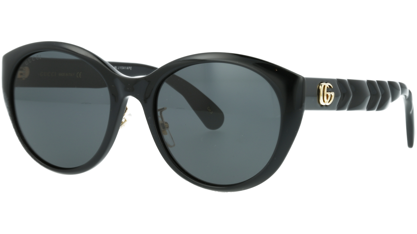 Gucci GG0814SK 001 56 Black Cat-Eye Sunglasses