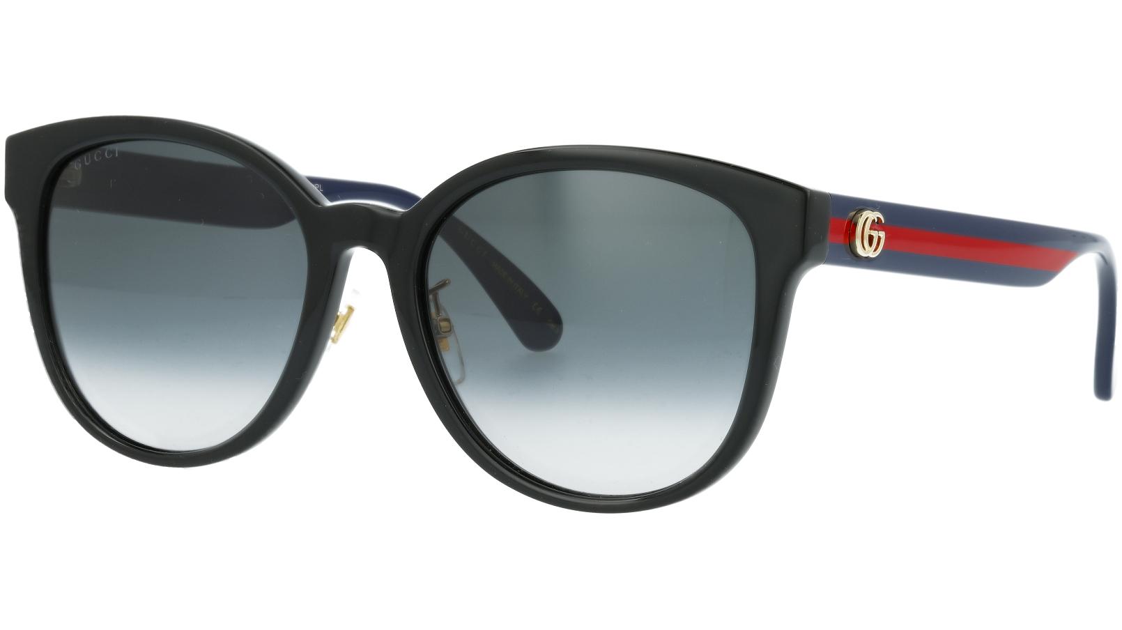 Gucci GG0854SK 002 56 Black Oval Sunglasses