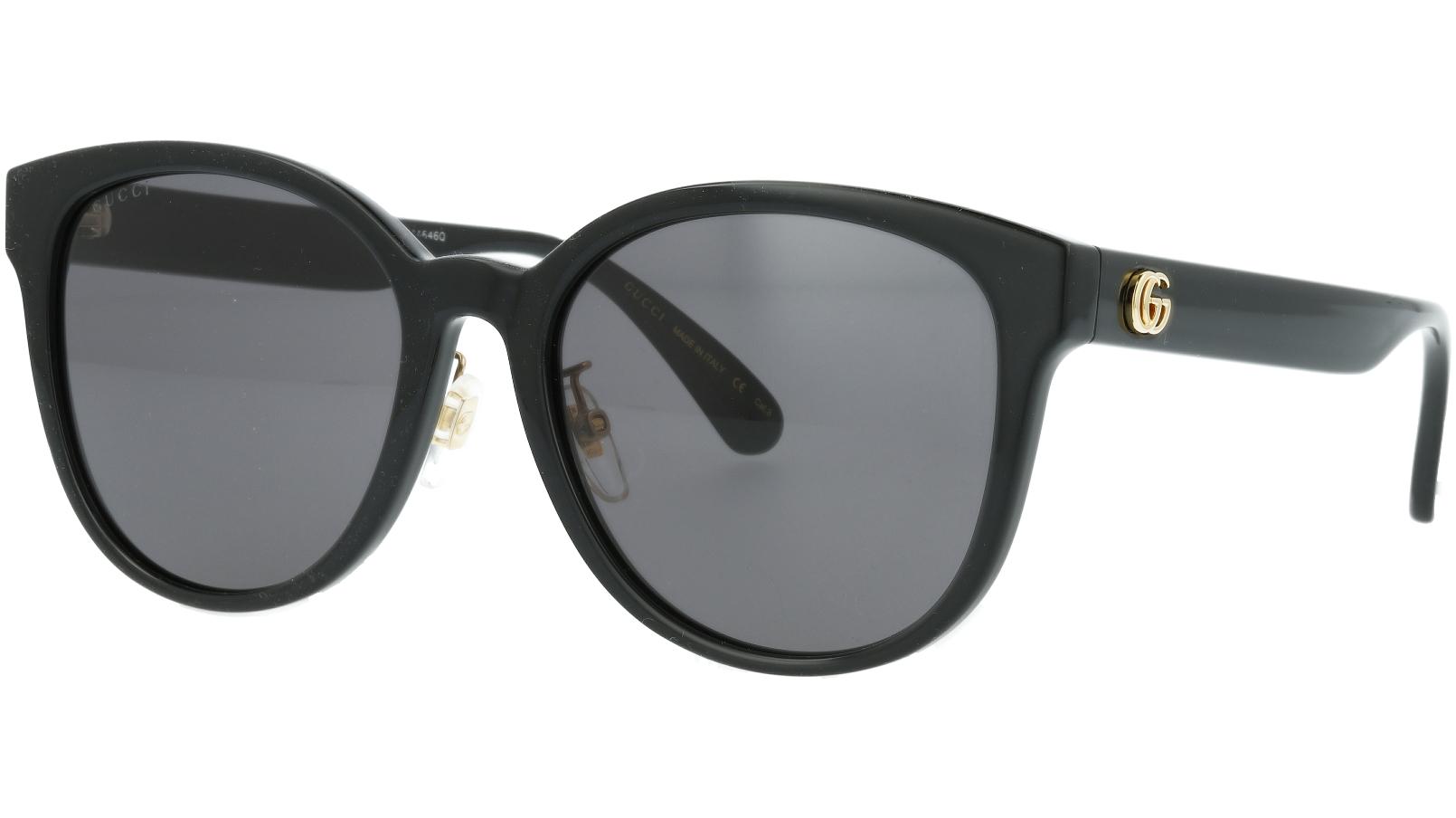 Gucci GG0854SK 004 56 Black Oval Sunglasses