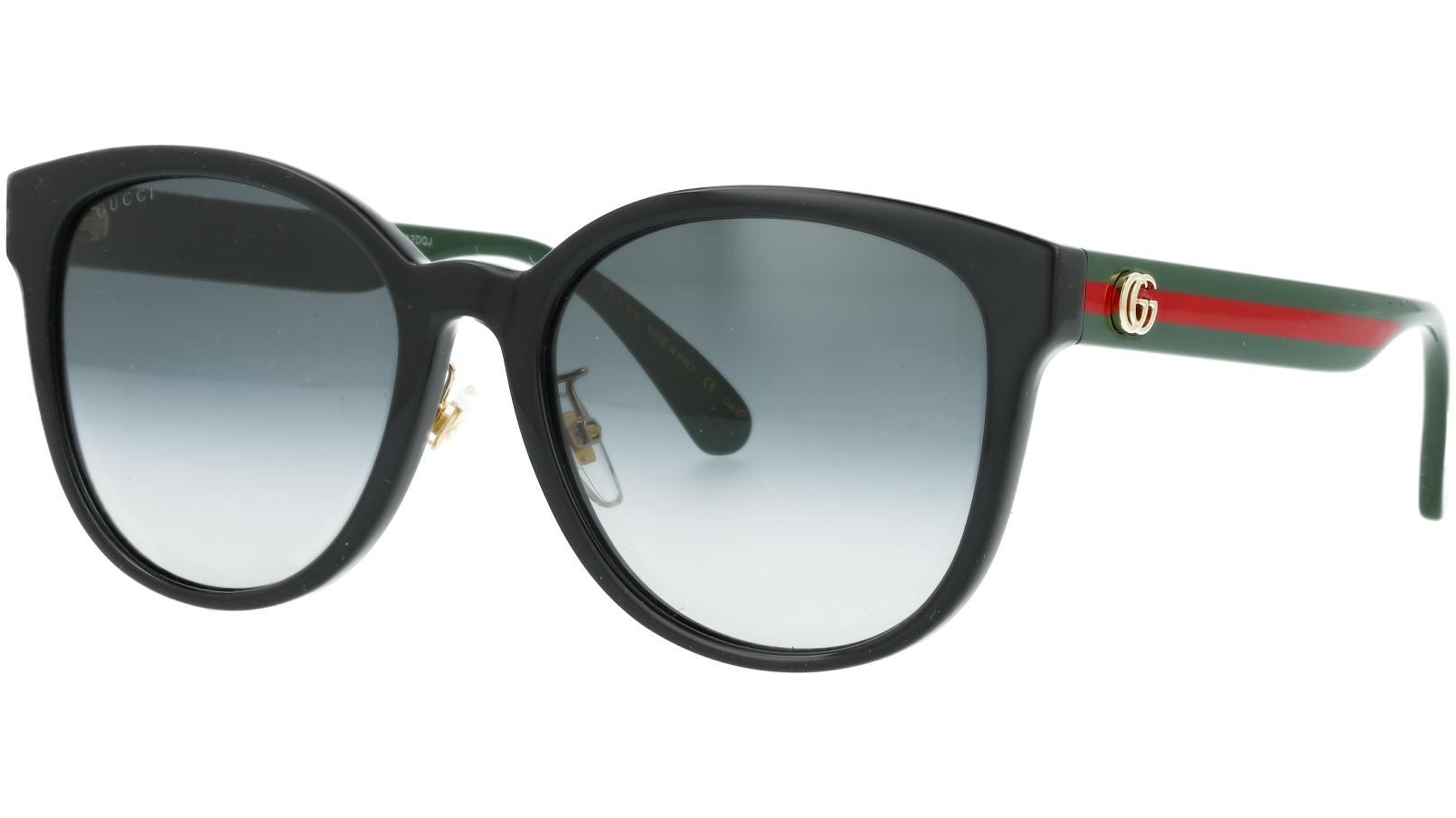 Gucci GG0854SK 001 56 Black Oval Sunglasses