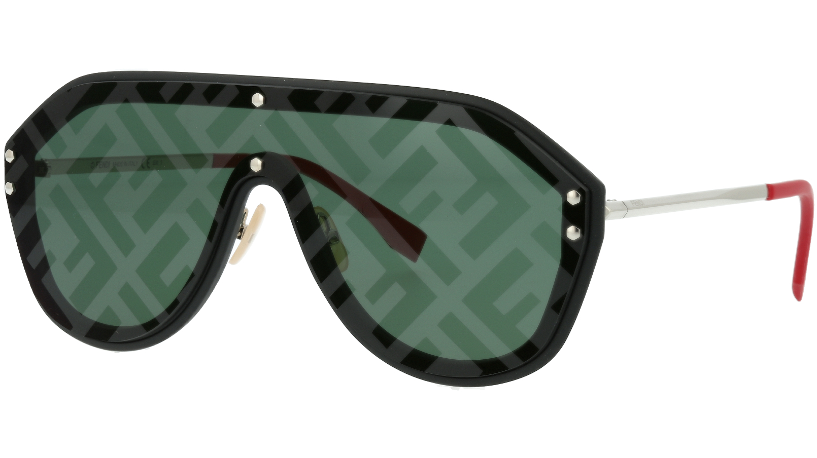FENDI FFM0039/G/S 807XR 99 Black Shield Sunglasses