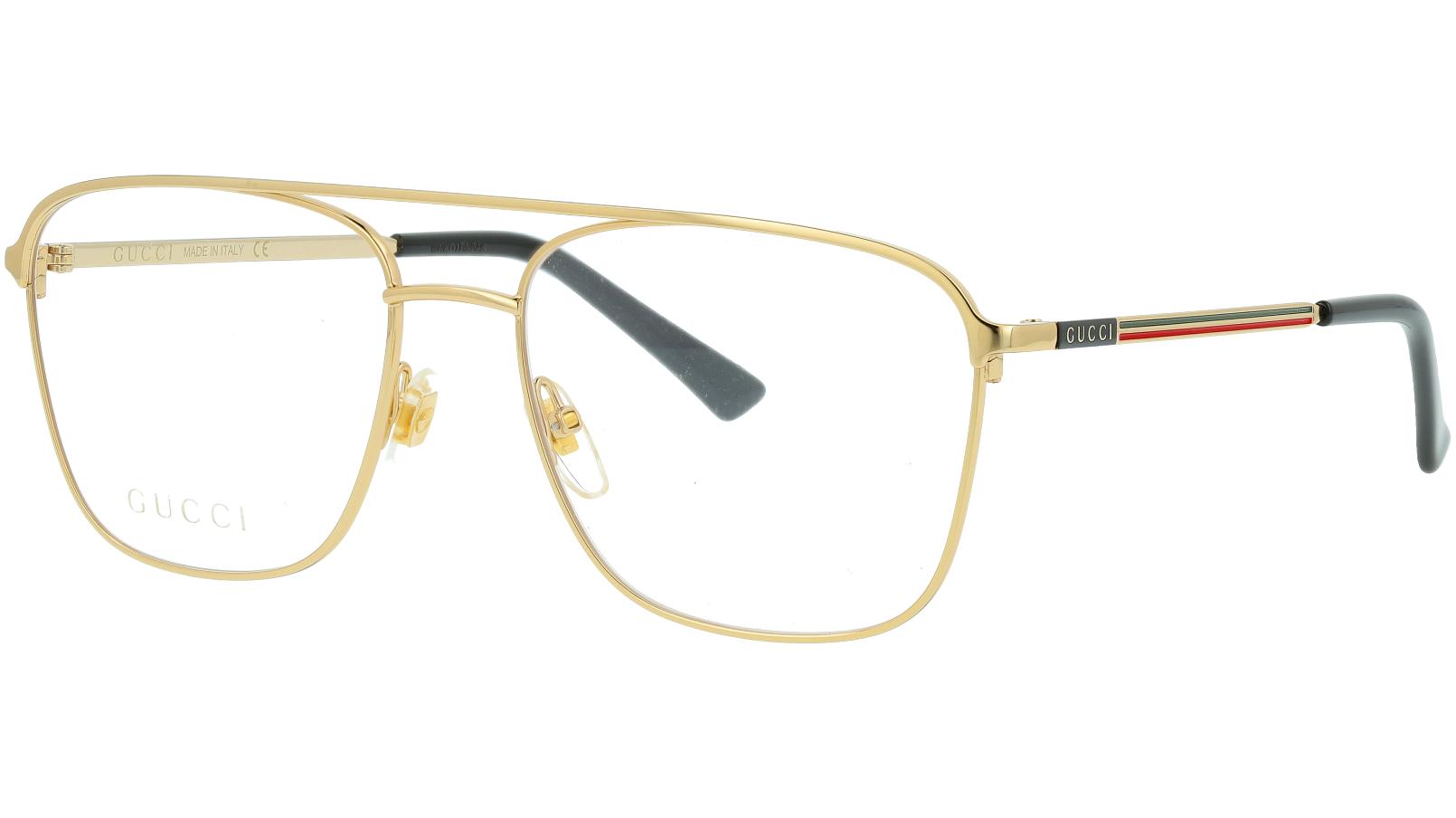Gucci GG0833O 002 55 Gold Pilot Glasses