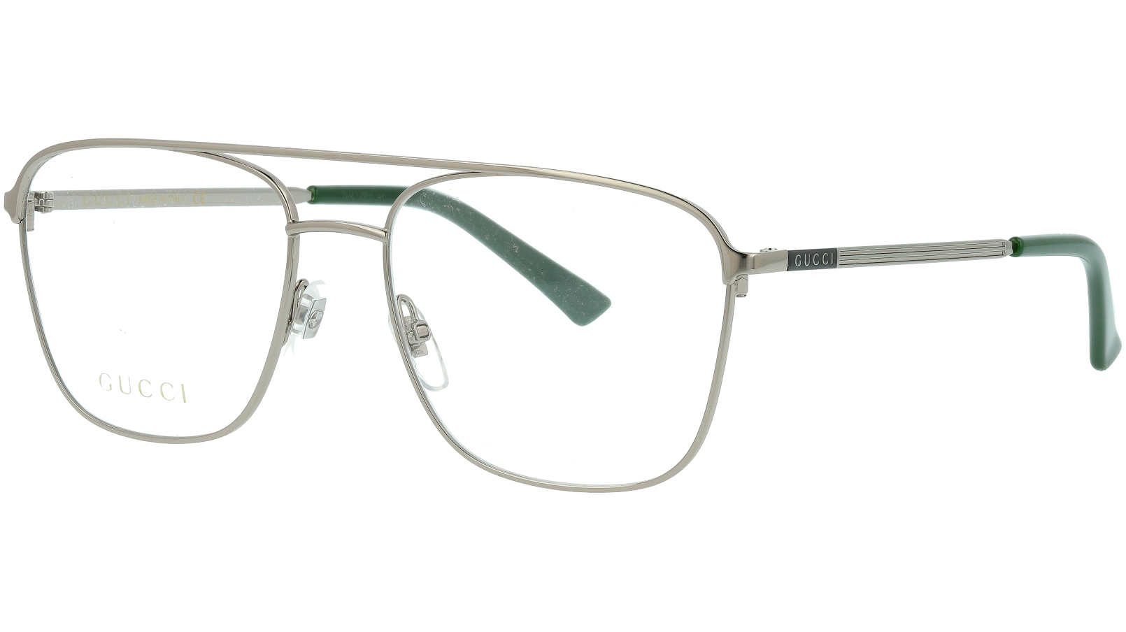 Gucci GG0833O 003 55 Ruthenium Pilot Glasses