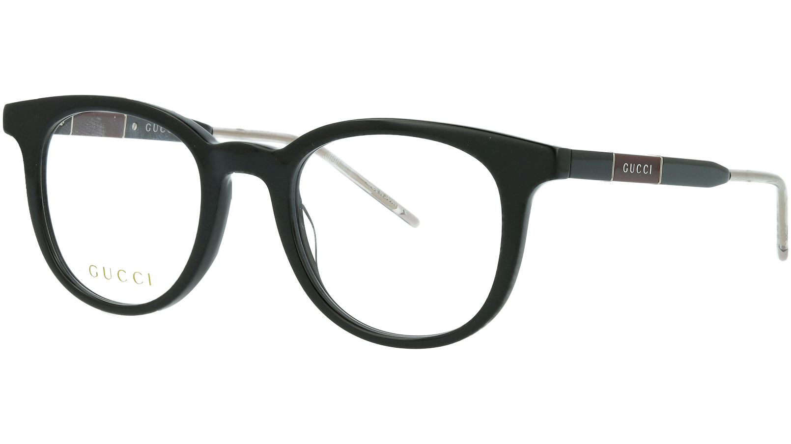 Gucci GG0845O 004 49 Black Round Eyeglasses