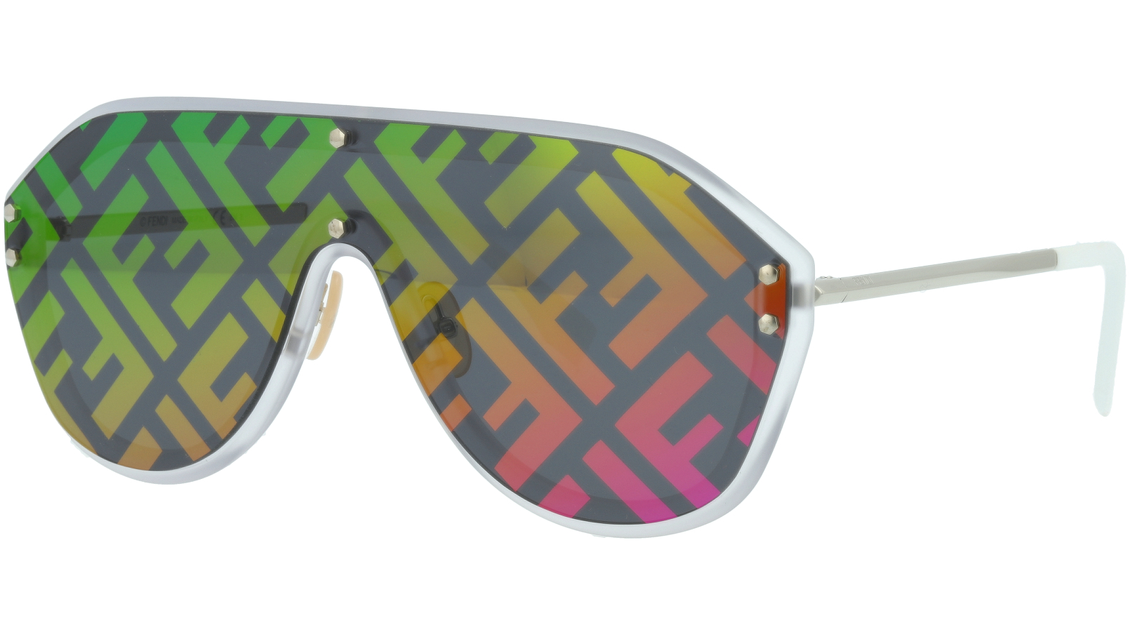 FENDI FFM0039/G/S F74R3 99 Multicolor Shield Sunglasses