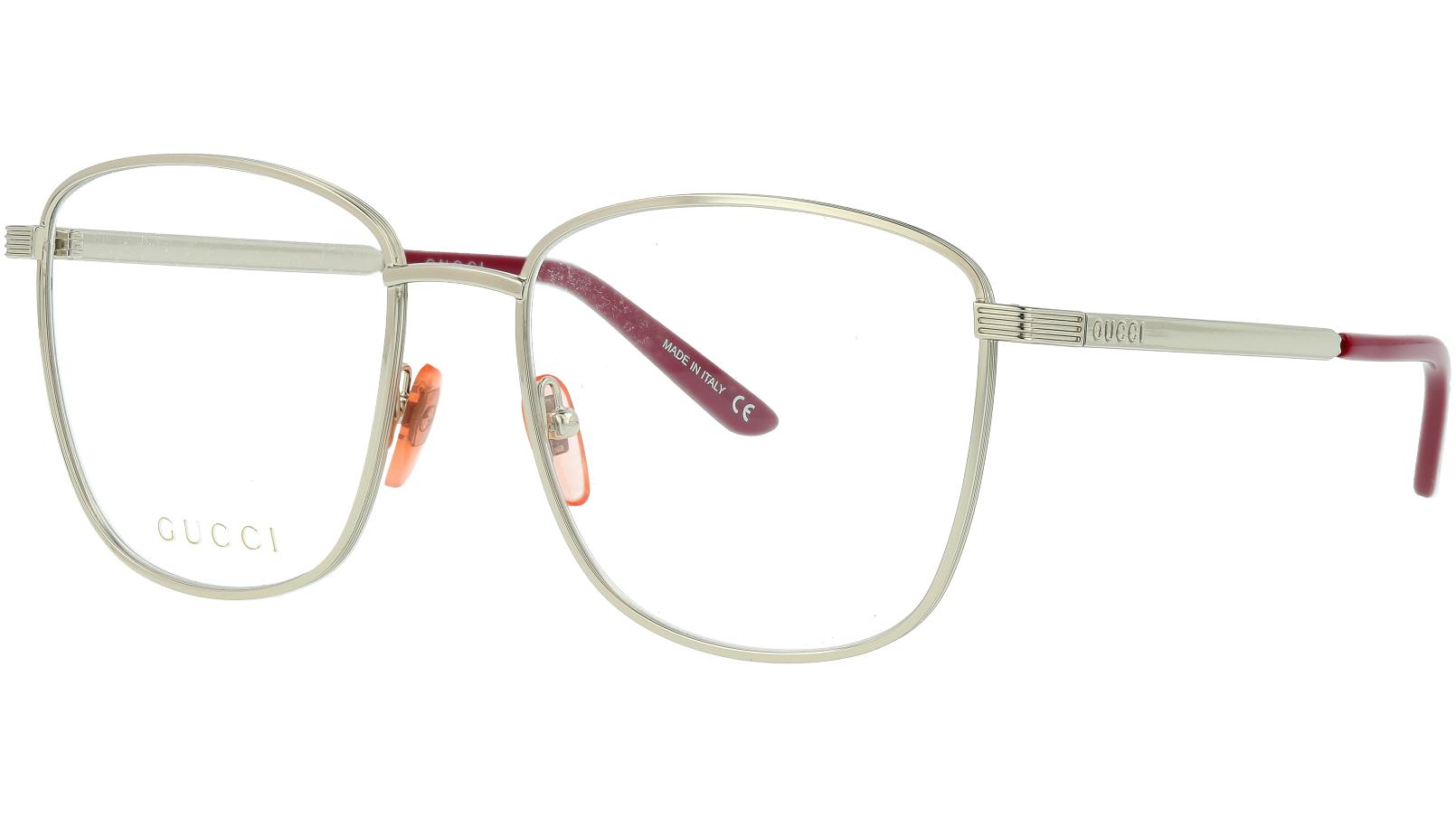 Gucci GG0804O 002 54 Silver Square Glasses