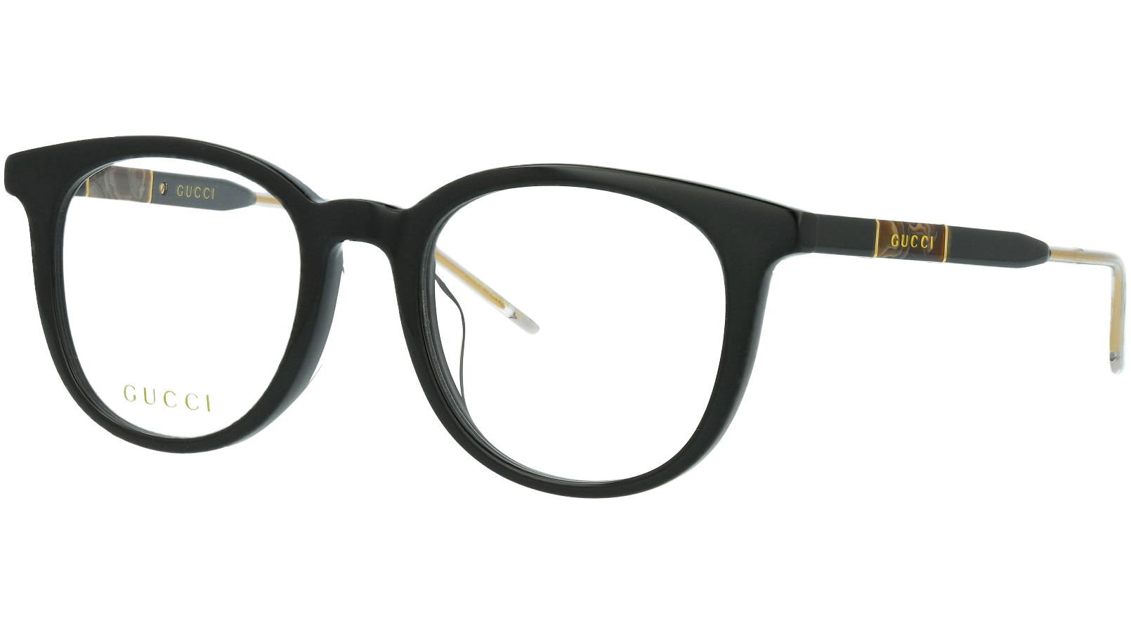 Gucci GG0845OK 004 53 Black Round Glasses