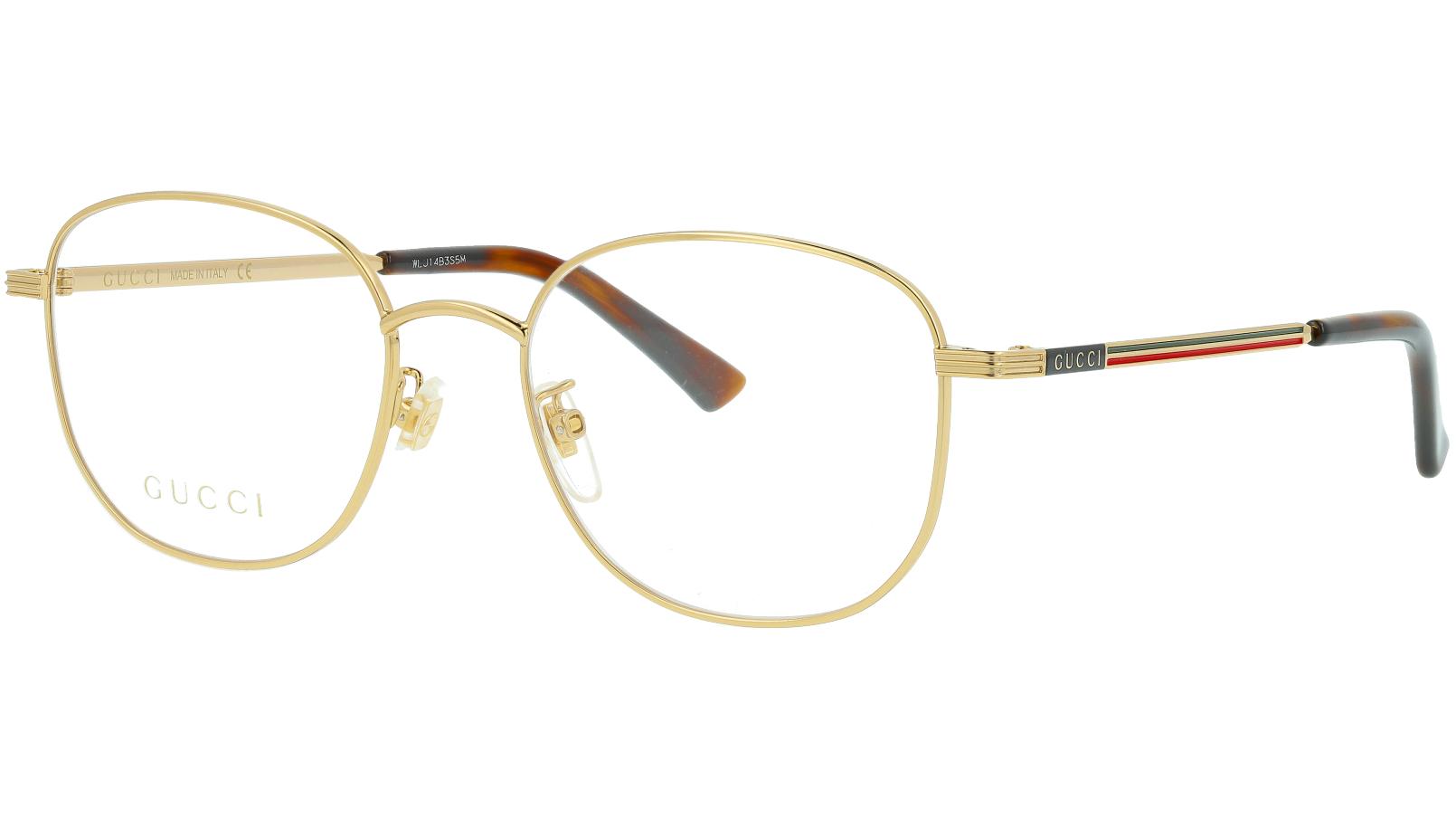 Gucci GG0838OK 002 52 Gold Square Glasses