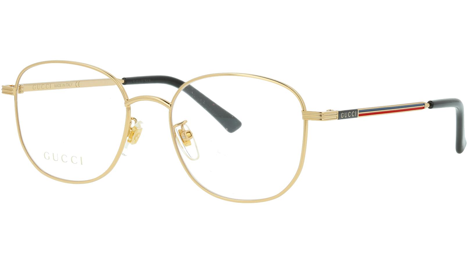 Gucci GG0838OK 003 52 Gold Square Glasses