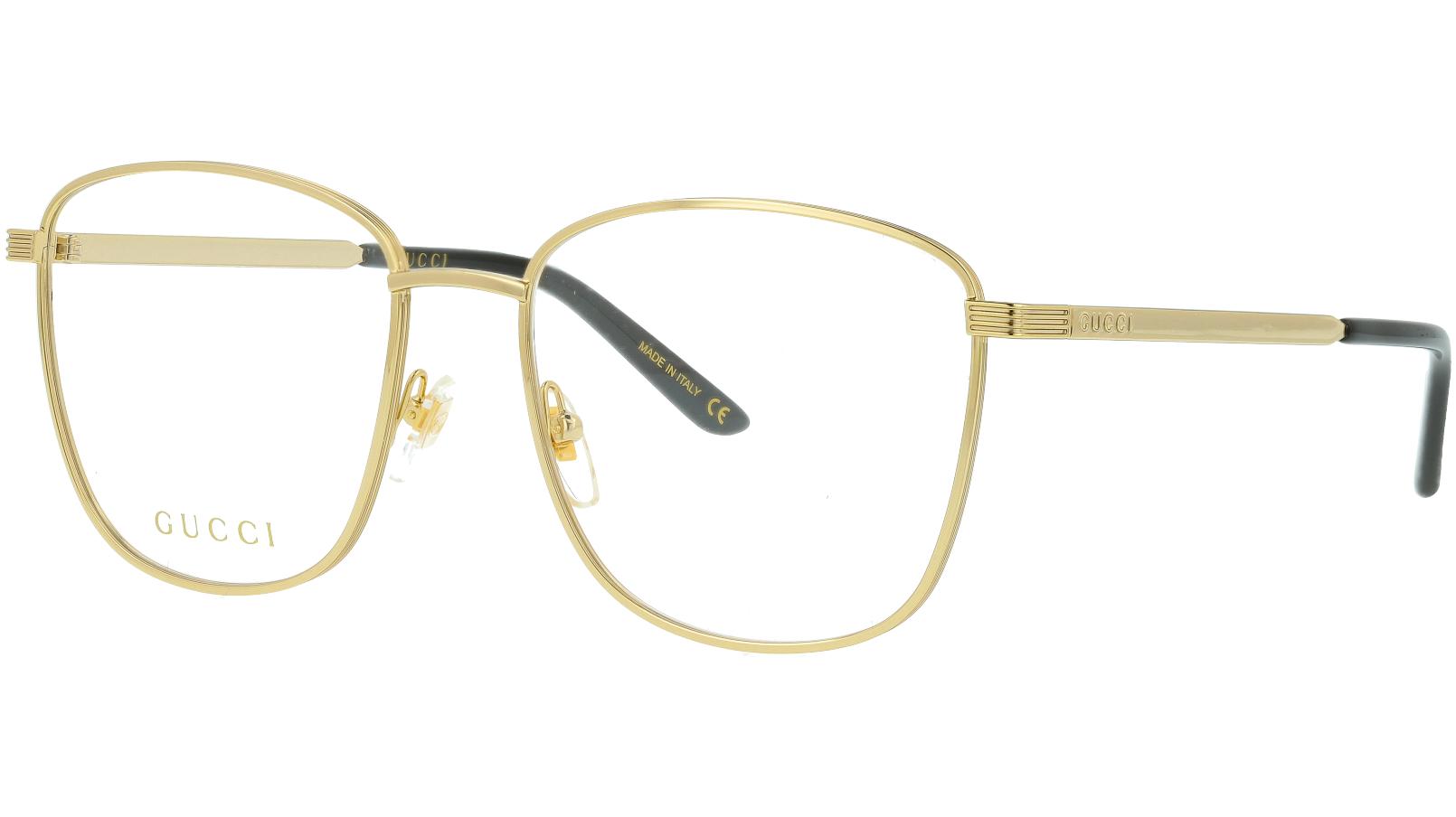 Gucci GG0804O 001 54 Gold Square Glasses