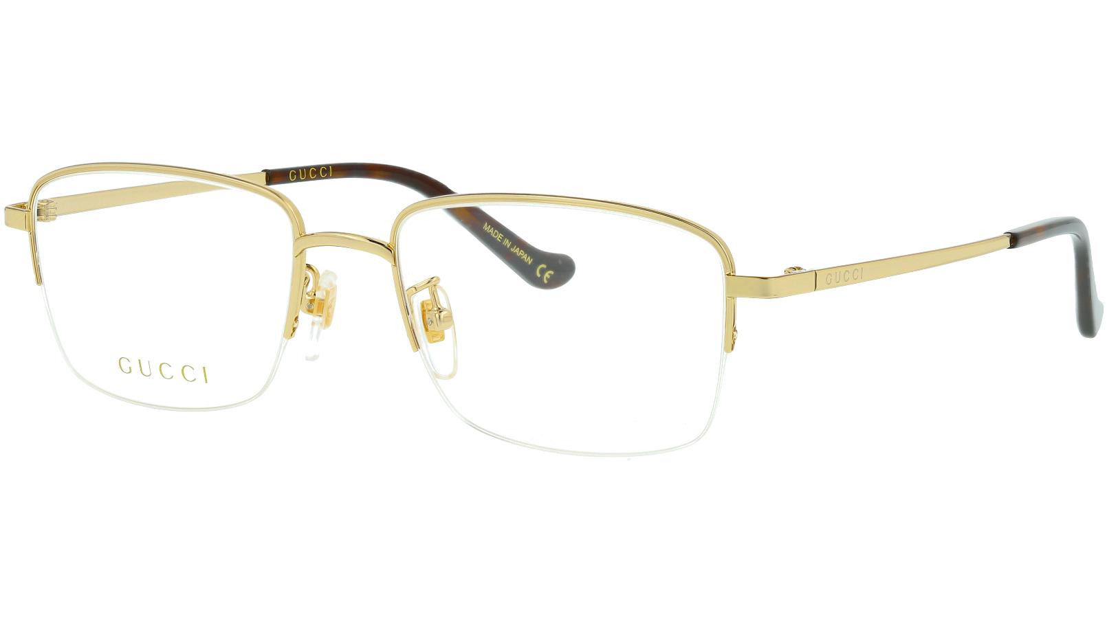 Gucci GG0863OA 002 53 Gold Square Glasses