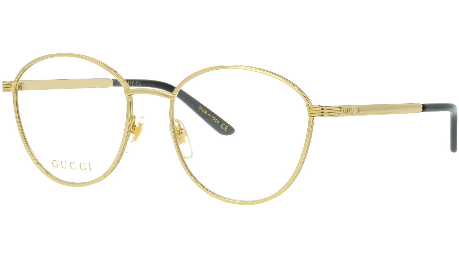 Gucci GG0806O 004 53 Gold Glasses