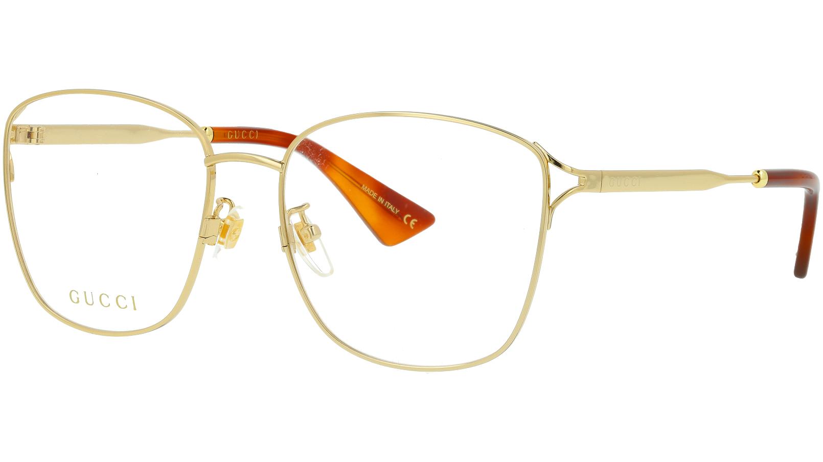 Gucci GG0819OA 001 56 Gold Square Glasses