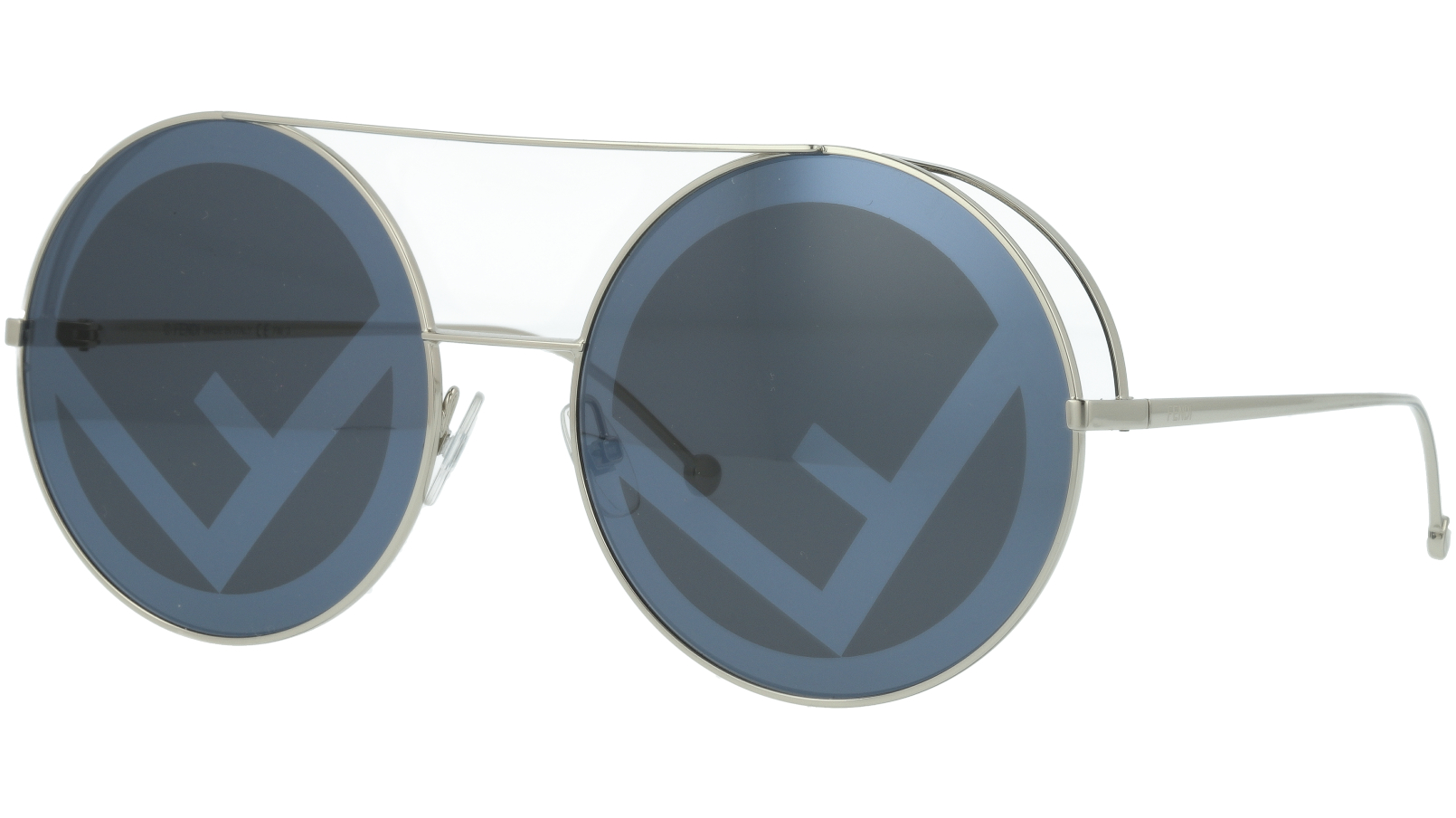 FENDI FF0285/S 010MD 63 Palladium Round Sunglasses