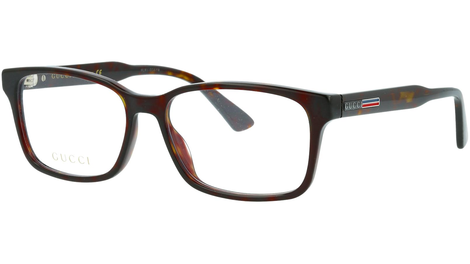 Gucci GG0826O 005 55 Havana Glasses