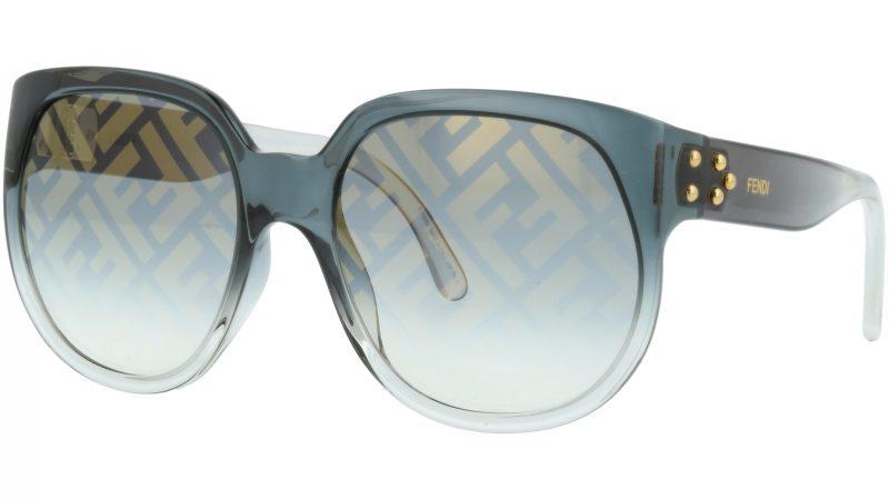 FENDI FF0403/G/S KB77Y 60 Grey Full Rim Sunglasses