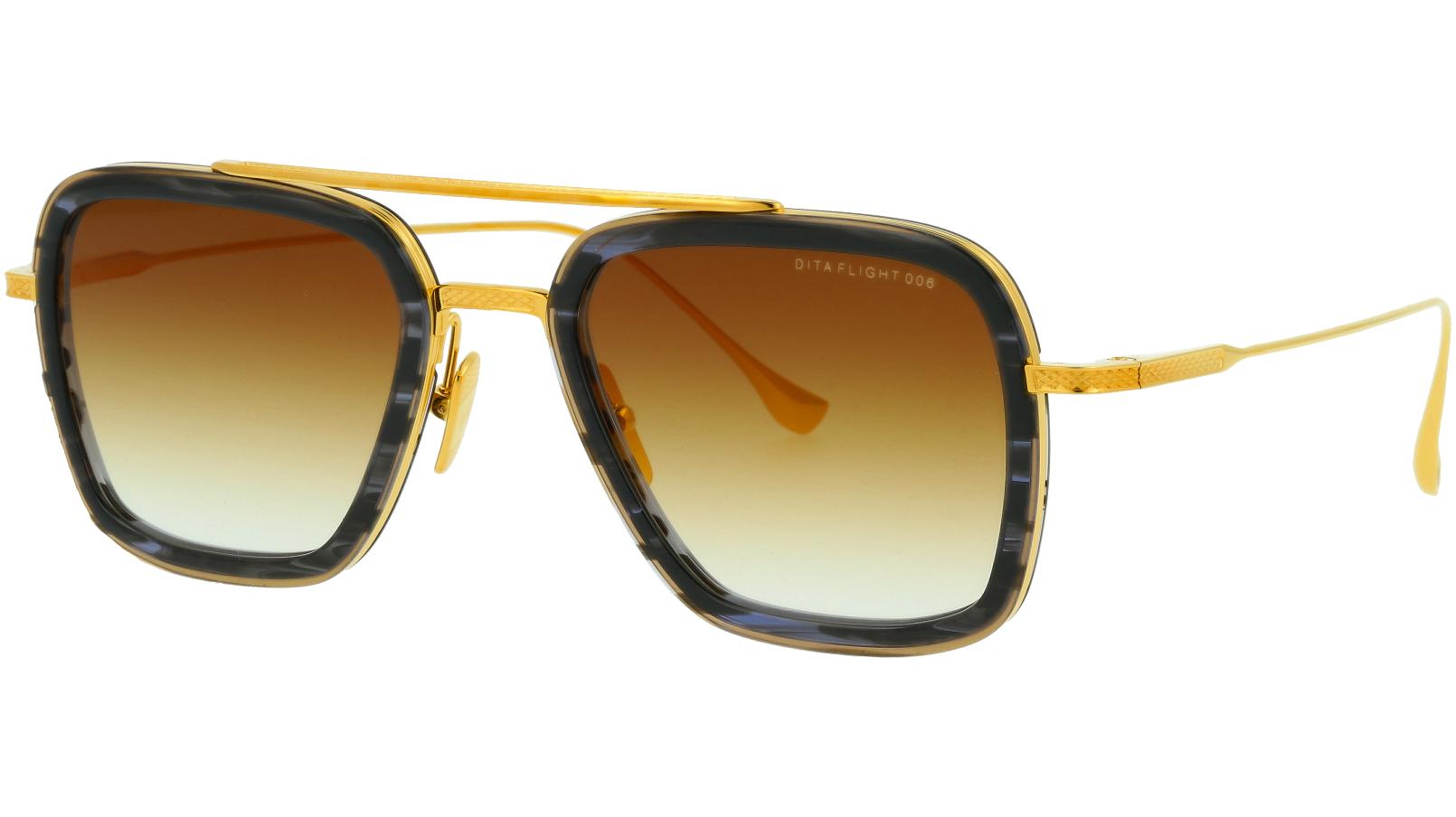 DITA FLIGHT.006 DRX7806 F-BLACK 52 GOLD Sunglasses