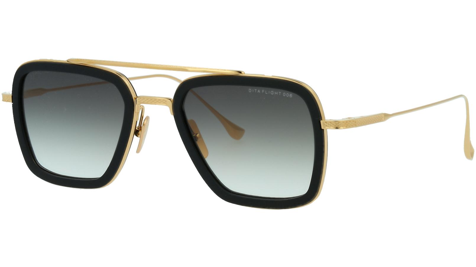 DITA FLIGHT.006 DRX7806 B-BLACK 52 GOLD Sunglasses