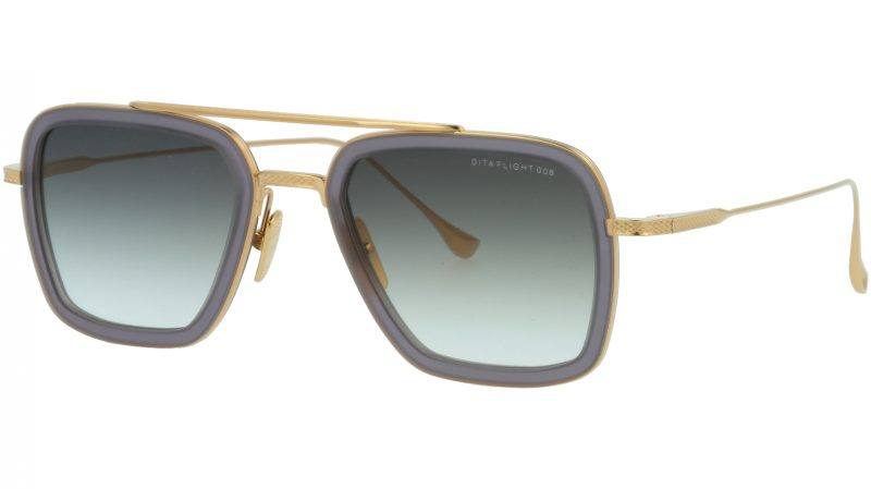 DITA FLIGHT.006 DRX7806 H-GREY 52 GOLD Sunglasses