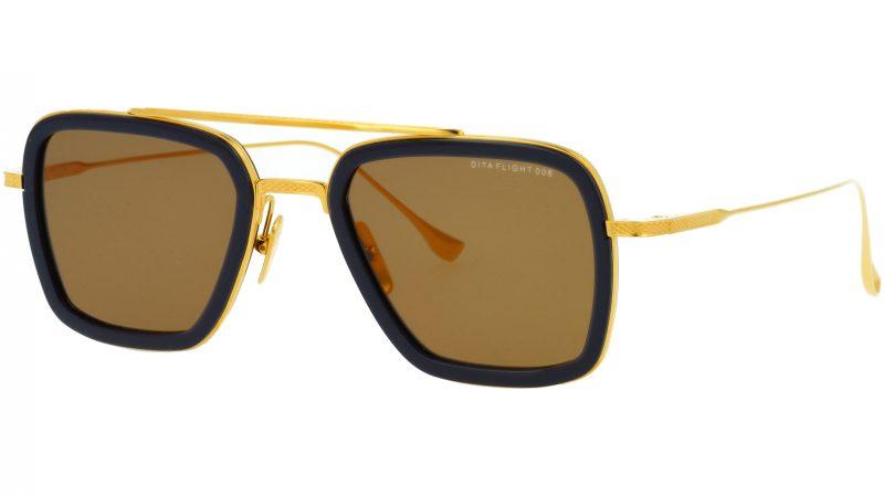 DITA FLIGHT.006 DRX7806 D-Navy 52 GOLD Sunglasses