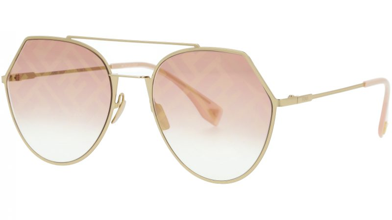 FENDI FF0194/S OBL0M 55 Graphic Pink Sunglasses