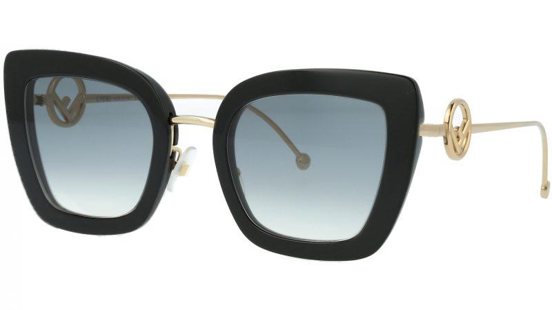 FENDI FF0408/S 80790 51 Black Cat-Eye Sunglasses