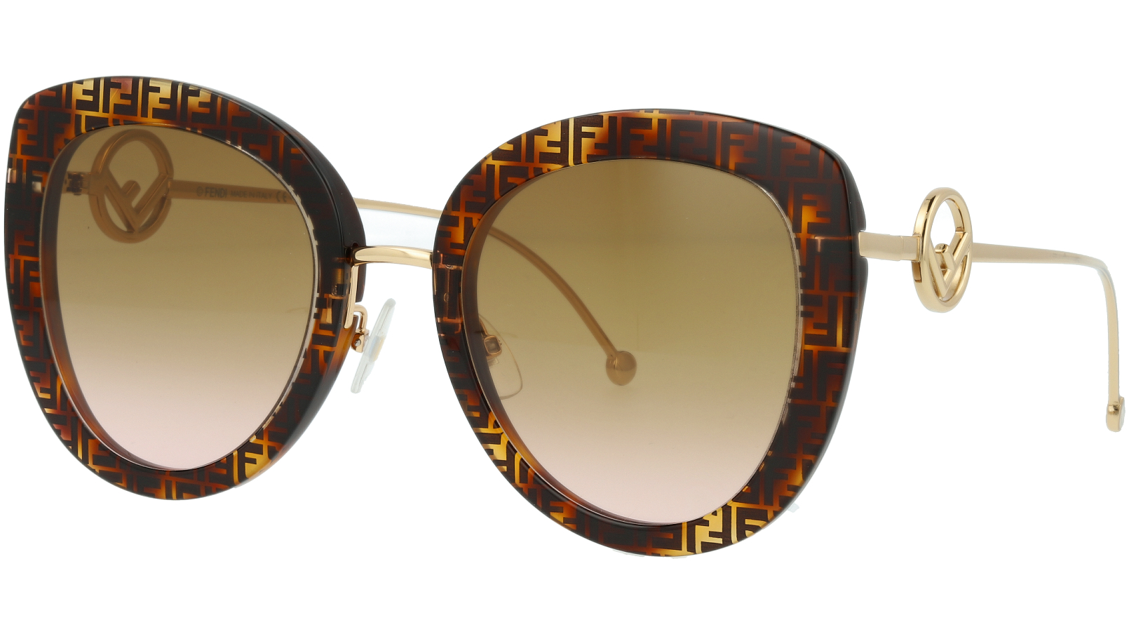 FENDI FF0409/S 086M2 54 Dark Havana Full-Rim Sunglasses