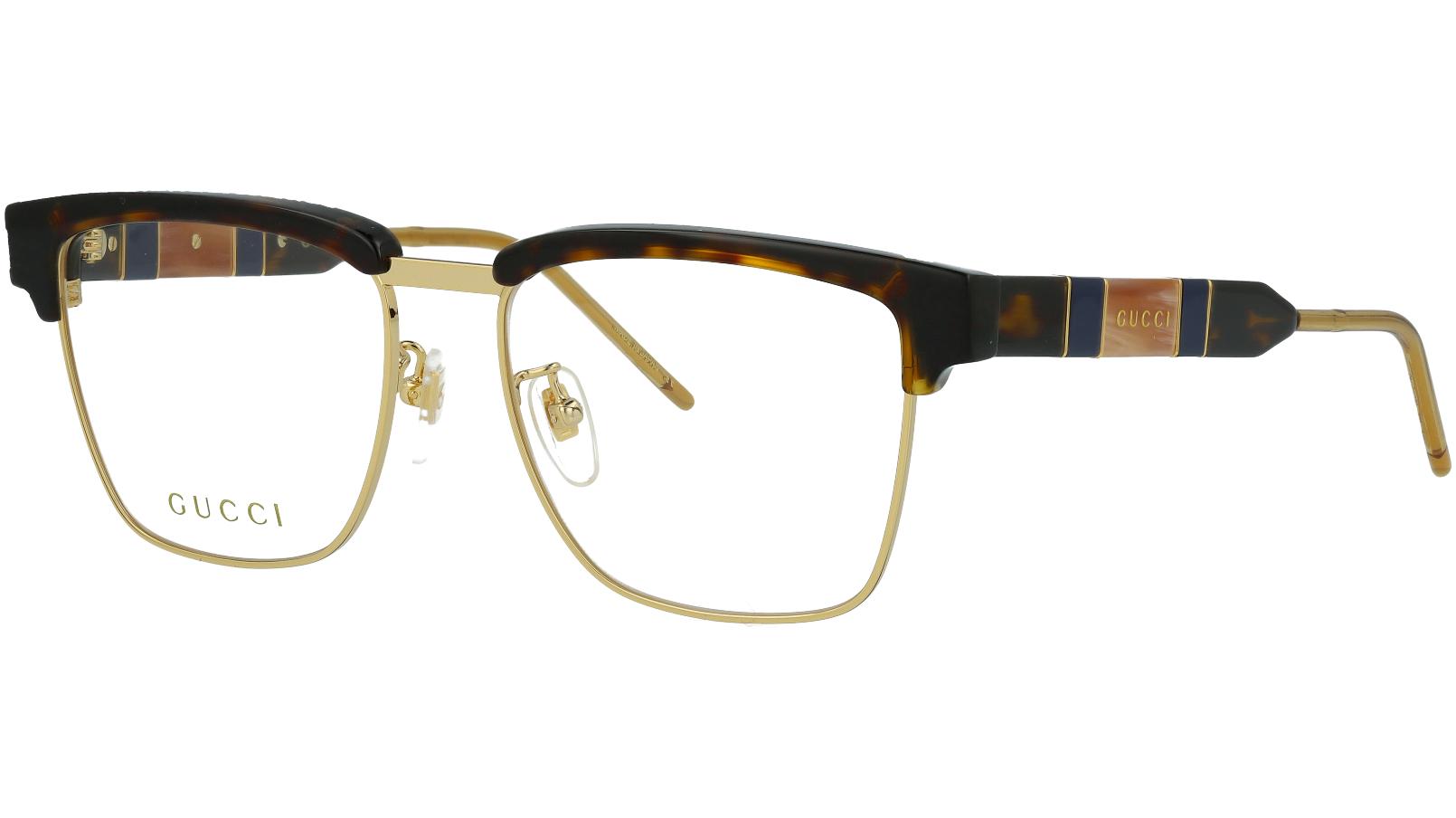 Gucci GG0605O 002 52 Havana Square Glasses