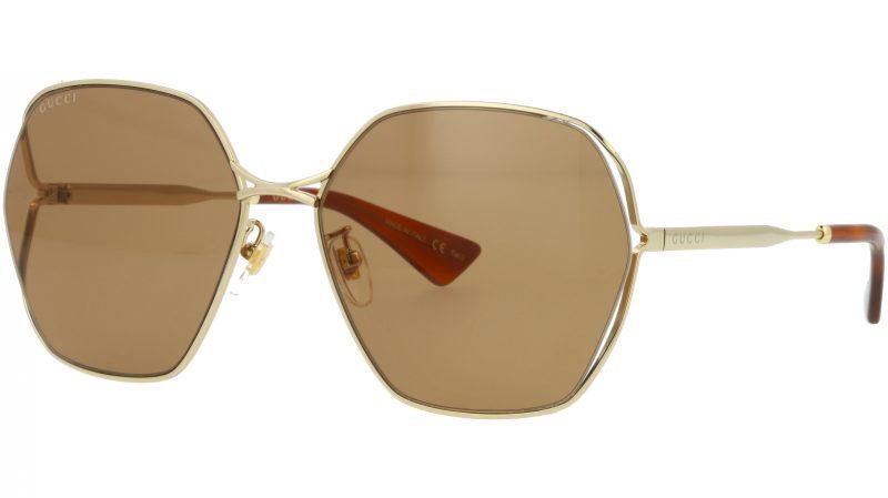 GUCCI GG818SA 002 63 GOLD Sunglasses