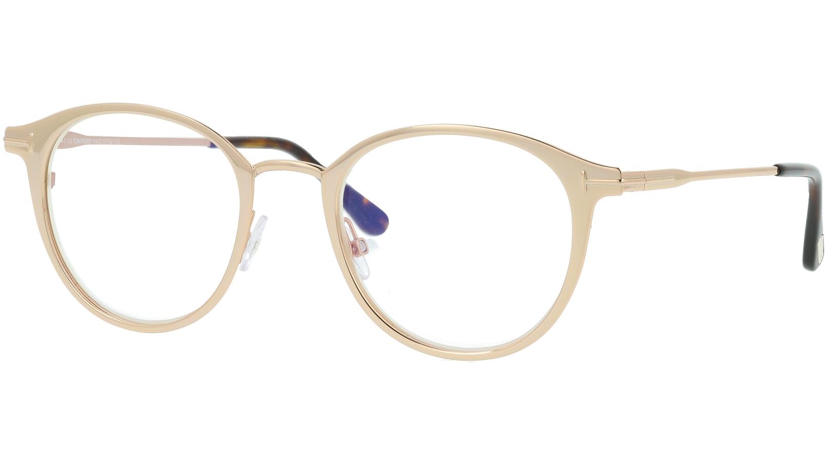 Tom Ford TF5528-B 029 49 Gold Glasses