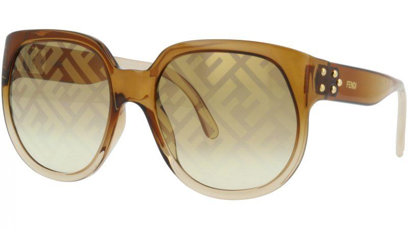 FENDI FF0403/G/S 09QEB 60 Brown Full Rim Sunglasses