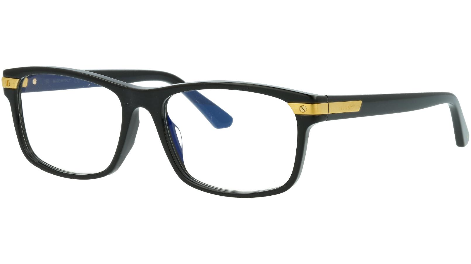 Cartier CT0191OA 001 56 Black Full Rim Glasses