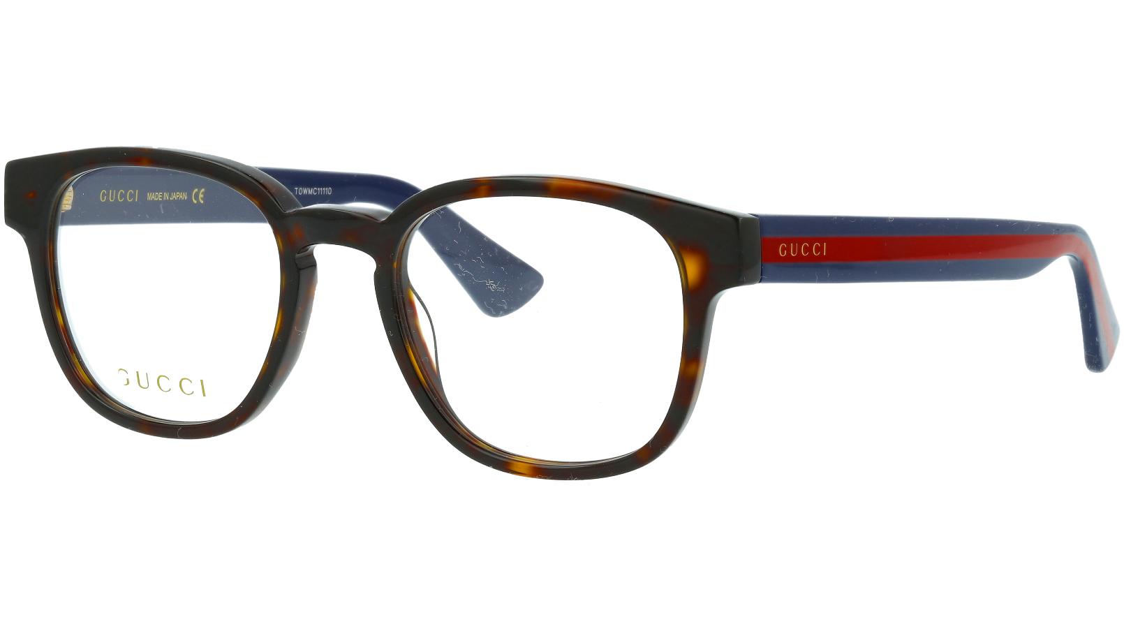 Gucci GG0927O 002 49 Havana Square Glasses
