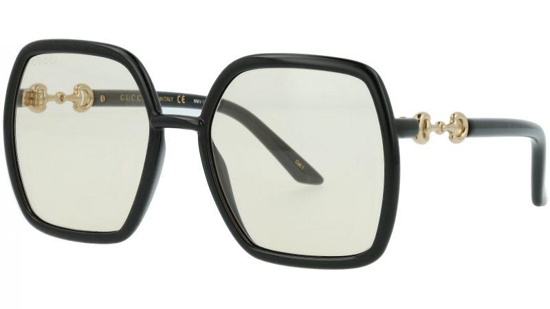 Gucci GG0890S 005 55 Black Square Sunglasses