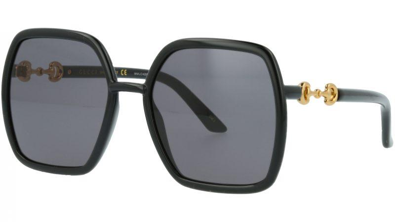 Gucci GG0890S 001 55 Black Square Sunglasses