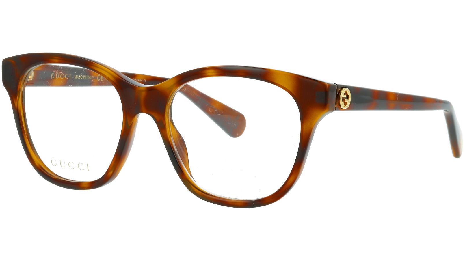 Gucci GG0923O 002 51 Havana Cat-eye Glasses