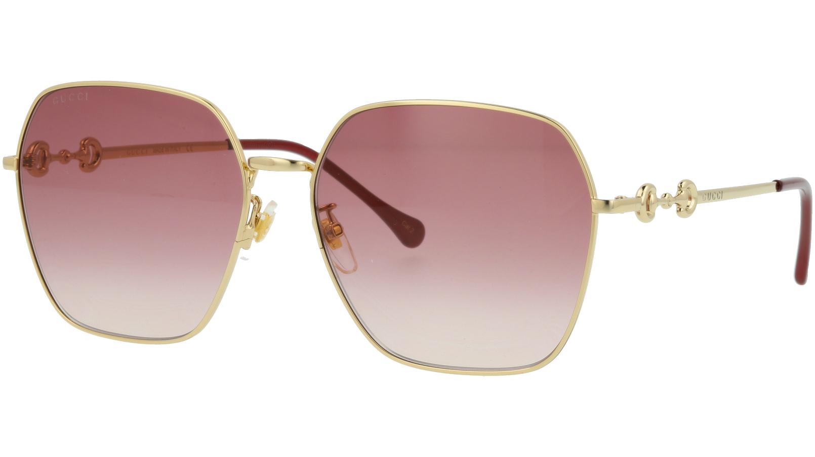 Gucci GG0882SA 005 Gold Square Sunglasses
